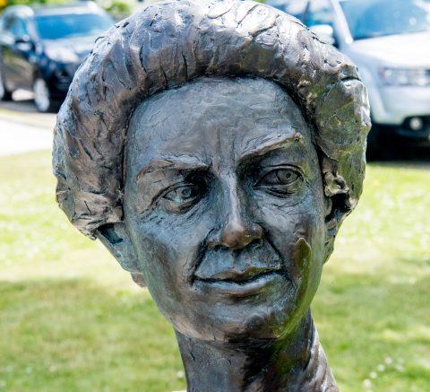 Mrs Alexander Graham Bell statue, Baddeck, NS