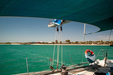 Catamaran sailing, Monkey Mia, Shark Bay, WA