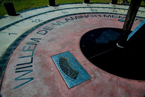 Willlem de Vlamingh memorial (arrived 1697), Esplanade, Perth, W