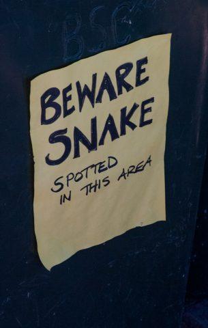 Warning sign, Yallingup beach, near Margaret River, WA