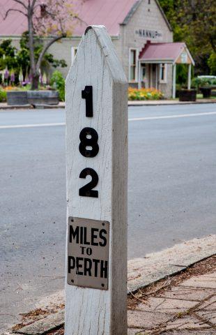 Mile post, Nannup, WA
