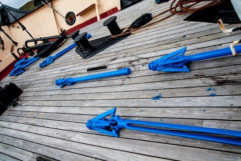 Harpoons, whaling ship, Albany, WA
