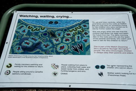 Whistling Rock story, Thistle Cove, Esperance, WA
