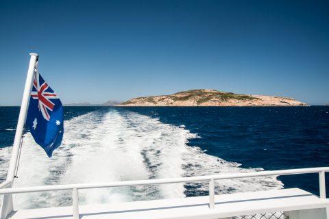 Aussie flag flying off Esperance, wA