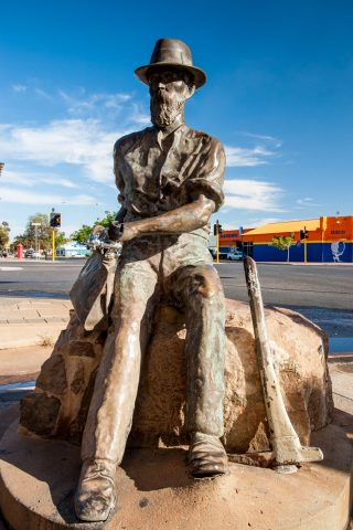 Paddy Hannan - first to find gold here 1893 - Kalgoorlie- Boulde