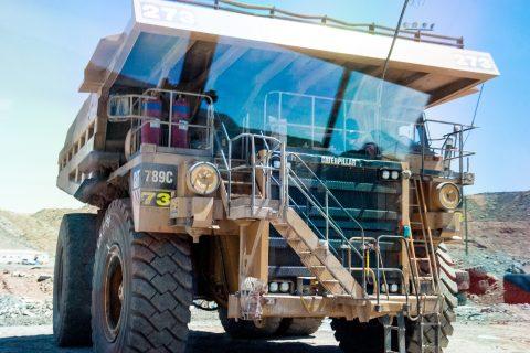 Earth moving lorry, Super Pit, Kalgoorlie- Boulder, WA