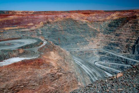 View down into Super Pit, Kalgoorlie- Boulder, wA
