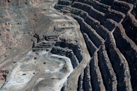 View down into working area ofSuper Pit, Kalgoorlie- Boulder, wA