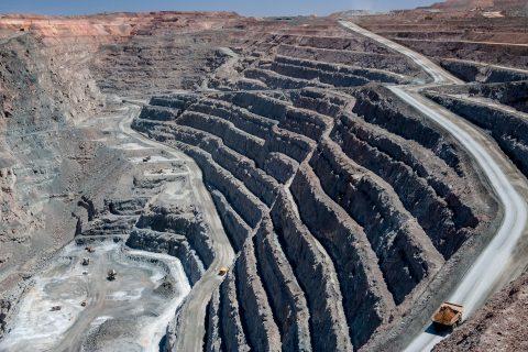 View down into working area of Super Pit, Kalgoorlie- Boulder, W