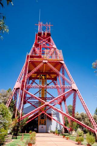 Ivanhoe Mine headframe, Kalgoorlie-Boulder WA