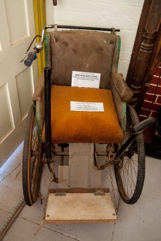 Homemade wheel chair, musuem Southern Cross, WA