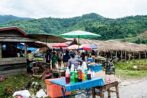 Market, Lanten village, Laos