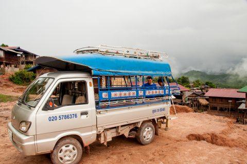 Local transport, Akha village, Laos