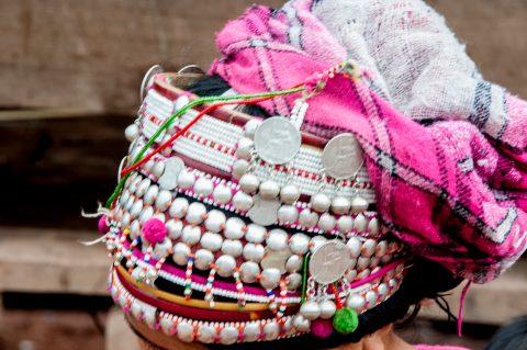 Headdress, Akha villager, Laos