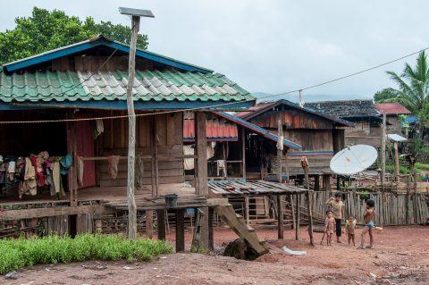 Akha village, Laos