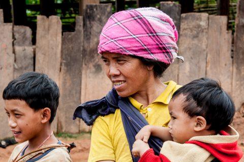Akha villagers, Laos