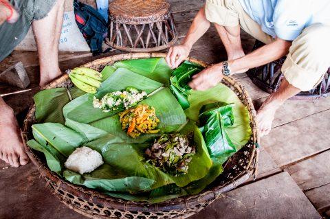Local lunch, Akha village, Laos