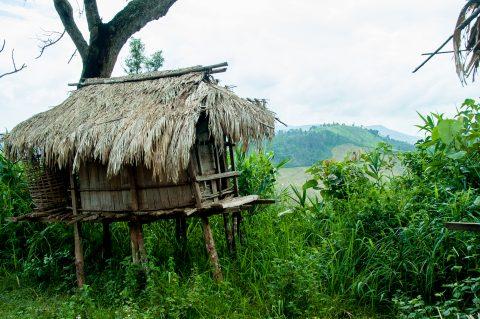 Storage hut, Akha village, Laos