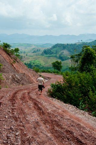Road to Akha village, Laos