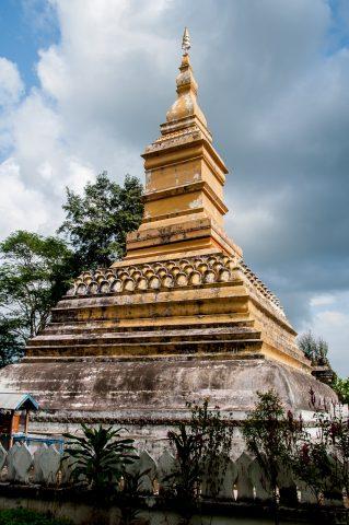 Buddhist temple, Akha village, Laos