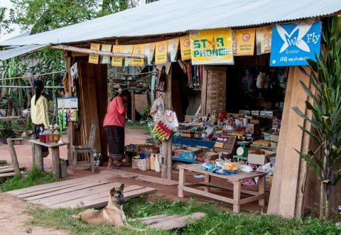Local shop, Akha village, Laos