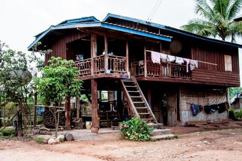 Akha village house, Laos