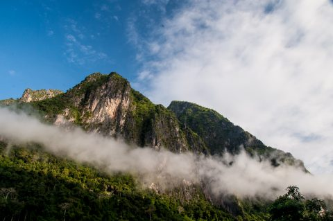 Mountains at Nong Khiaw, Laos