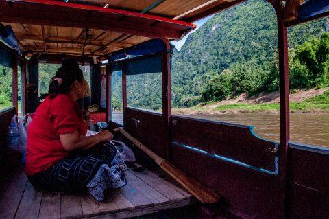 Boat on Nam Ou River, Nong Khiaw, Laos