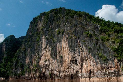 Limestone cliffs from Nam Ou River, Laos