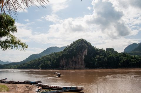 Pak Ou Caves across river, Laos