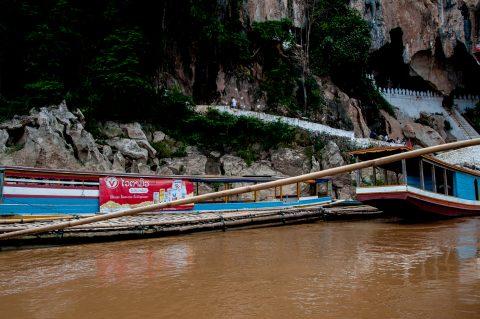 Mooring at Pak Ou Caves, Laos