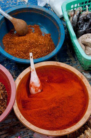 Spices in market, Luang Prabang, Laos