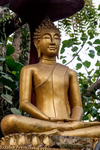 Buddha, Wat Wisunarat grounds, Luang Prabang, Laos