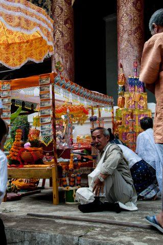Wat Xieng Thong stalls, Luang Prabang, Laos