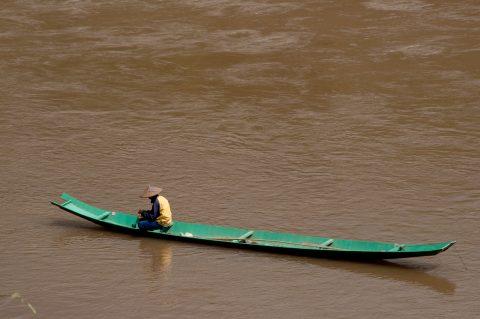 Fishing, Mekong river, Luang Prabang, Laos
