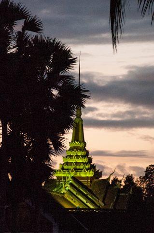 Phi Si Hill temple sunset, Luang Prabang, Laos