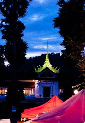 Phi Si Hill temple & night market, Luang Prabang, Laos