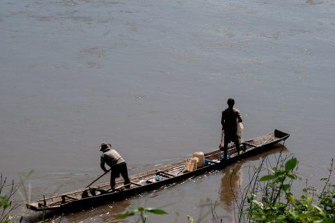 Fishing, Nam Khan river, Luang Prabang, Laos