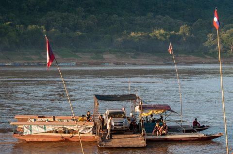 Ferry across Mekong, Luang Prabang, Laos