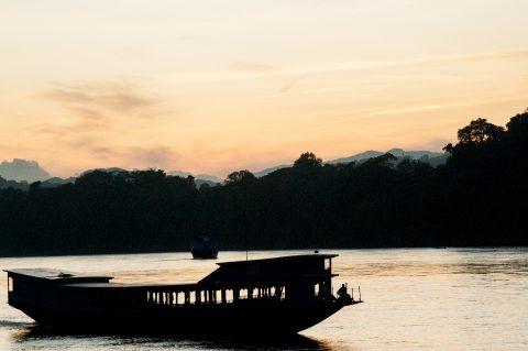 Sunset over Mekong, Luang Prabang, Laos