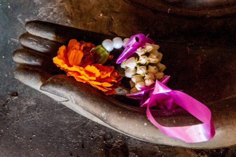 Offerings, Wat Si Saket temple, Vientiane, Laos