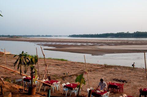 Mekong riverfront, Vientiane, Laos