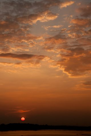 Sunset over Mekong, Vientiane, Laos