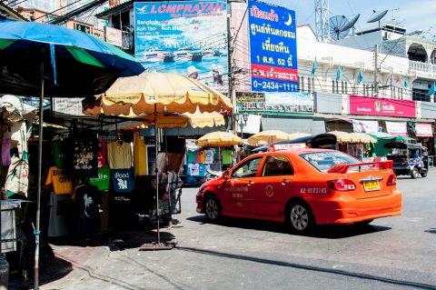 Central Bangkok street, Thailand