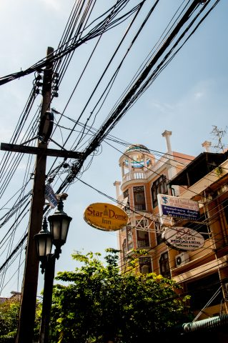 Electricity wiring, Bangkok, Thailand