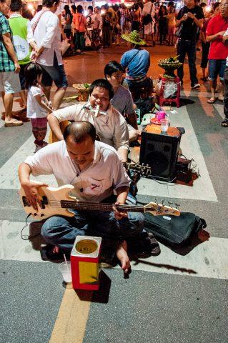 Musicans in Night Bazaar, Chiang Mai, Thailand