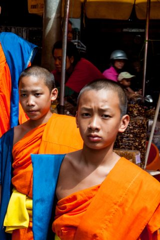 Monks in the market, Chiang Rai, Thailand