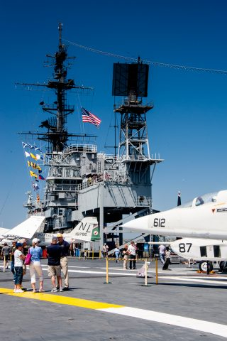 Flight deck, USS Midway, San Diego, California