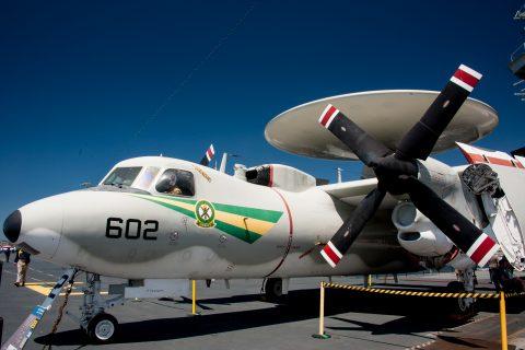 E-2 Hawkeye, USS Midway, San Diego, California