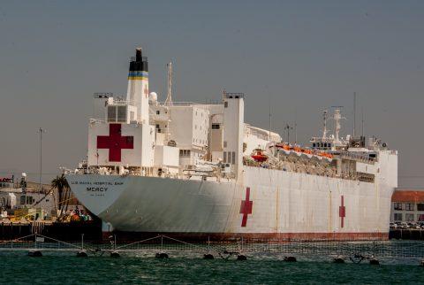 Naval hospital ship, San Diego, California